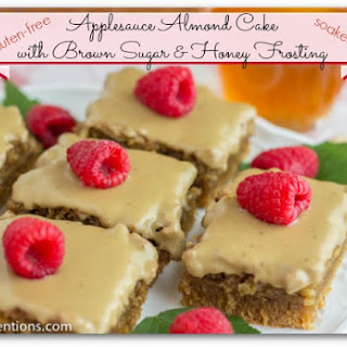 Applesauce Almond Cake with Brown Sugar & Honey Frosting
