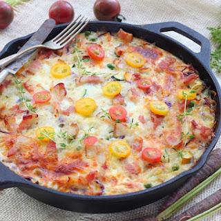 Make-ahead Vegetable And Bacon Egg Bake