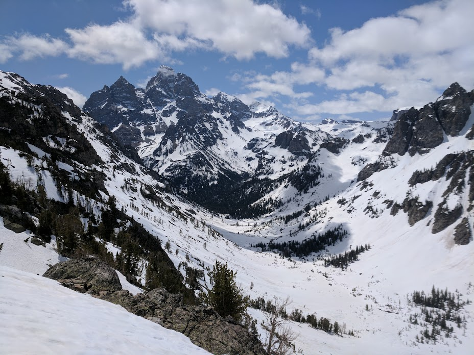 Grand Teton from Painbrush Pass - Lake Solitude path
