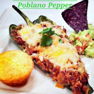 Chorizo Enchilada Stuffed Poblano Pepper
