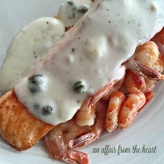 Salmon With Shrimp Sauce Recipes.