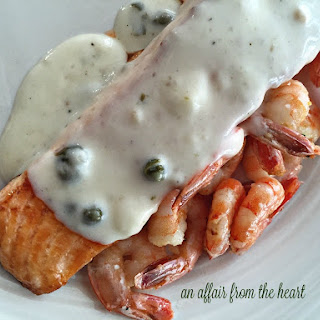 Salmon With Shrimp Sauce Recipes.