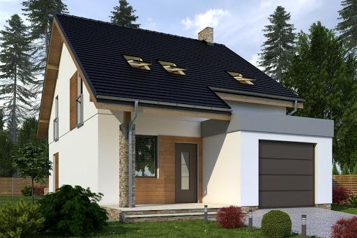 projekt Norbert z garażem 1-st. A