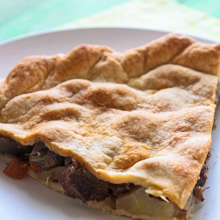 Pork Cheeks in Wine Pie with Sauteed Mushrooms Recipe