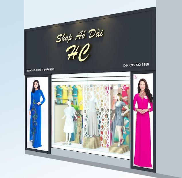 thiết kế shop áo dài ở hà đông hà nội