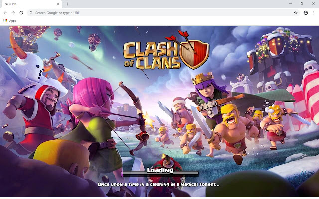 Clash Of Clans Wallpapers and New Tab