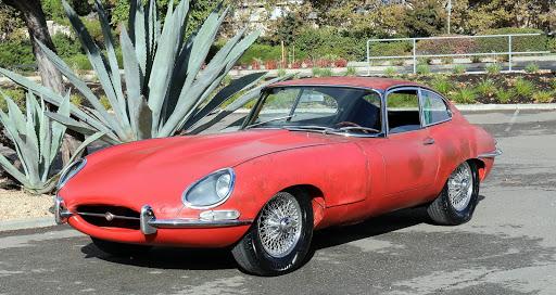1962 Jaguar E-Type Coupe: 1962 ETYPE 3.8 L SERIES 1 FHC BLACK CALIFORNIA PLATES #MATCH ENGINE CARMEN RED