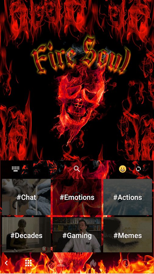 Fire-Soul-Emoji-Keyboard-Theme 8