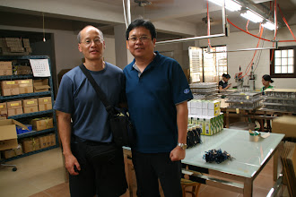 Photo: Larry and Frank, Piao I manager.