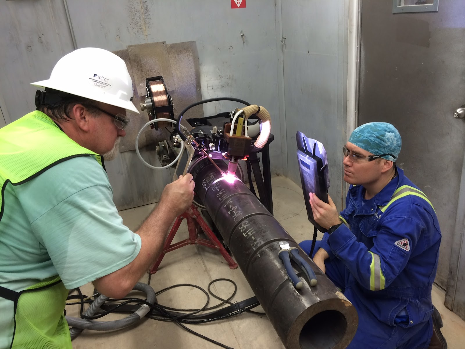 Orbital welding create quality welds whether pipe welding downhill or uphill.