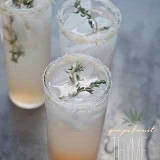 Grapefruit Thyme Cocktail.