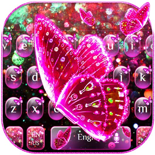 Pink Glitter Butterfly Keyboard Theme Apps On Google Play