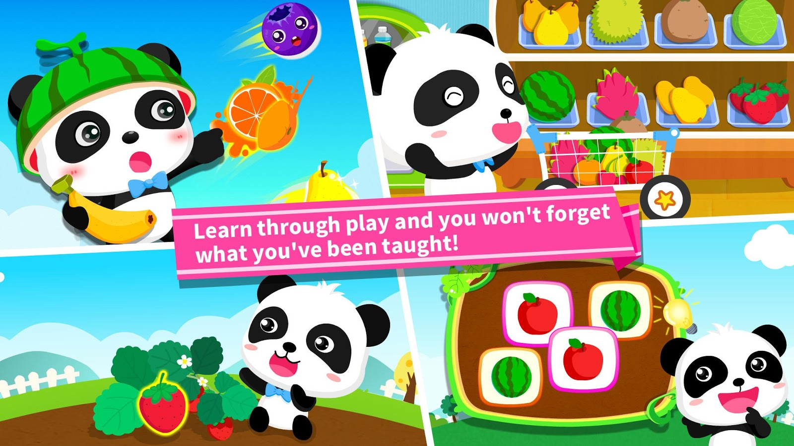 Baby Panda Learns about Fruit- screenshot