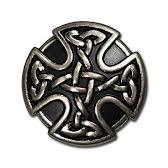 CONCHO celtic rund antilnickel 25 mm