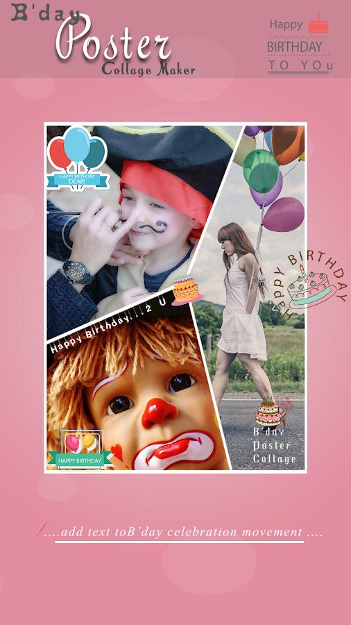 happy birthday poster maker