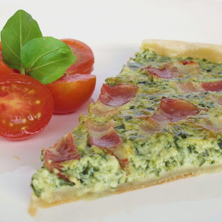 Spinach Pie with Bacon.