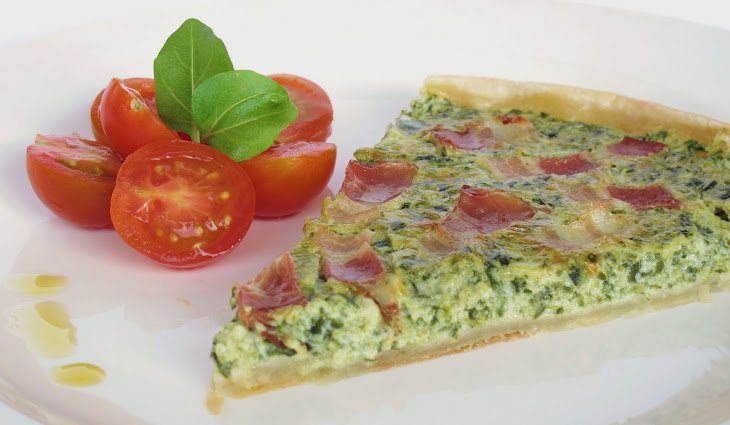 Spinach Pie with Bacon Recipe