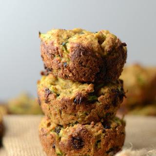 Skinny Vegan Chocolate Chip Zucchini Muffins