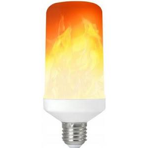 Bec LED cu efect de flacara 5W, lumina calda, E27