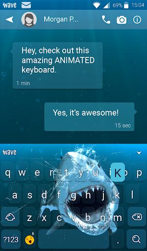Shark Attack Animated Keyboard + Live Wallpaper screenshot 3