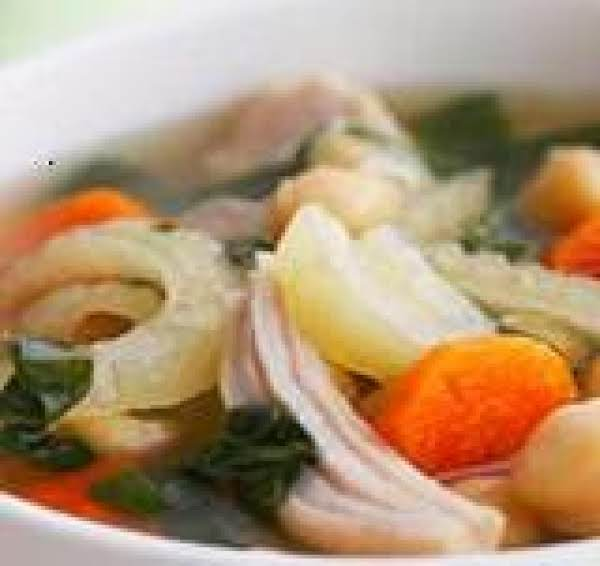 Chicken With Vegetables And Beans Soup- Low Fat