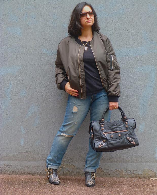 Balenciaga City Bag, Chloe Susanna Boots