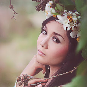 Beauty in the jungle by Made Weli  Rtanaya - People Portraits of Women