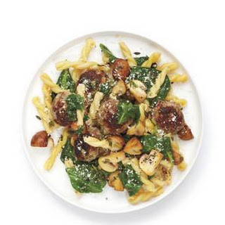 Pasta with Spinach and Meatballs from Real Simple