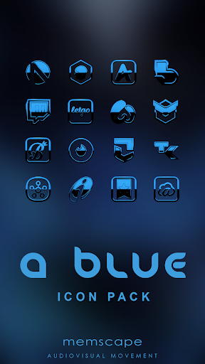 A-BLUE Icon Pack ss1