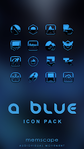 A-BLUE Icon Pack 4.7 APK Mod Latest Version 1