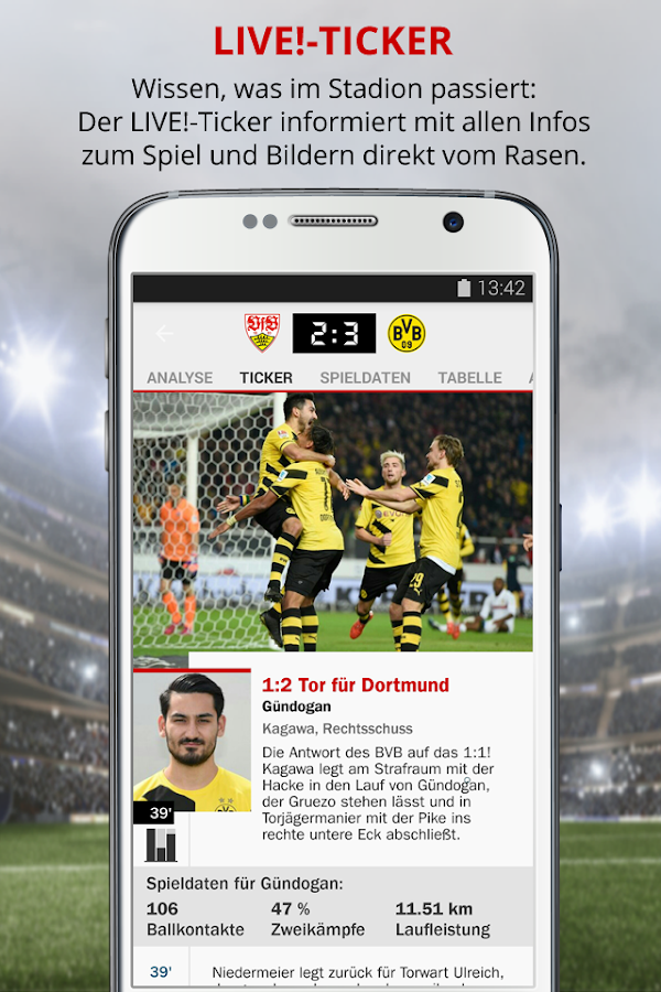 kicker Fußball News - screenshot