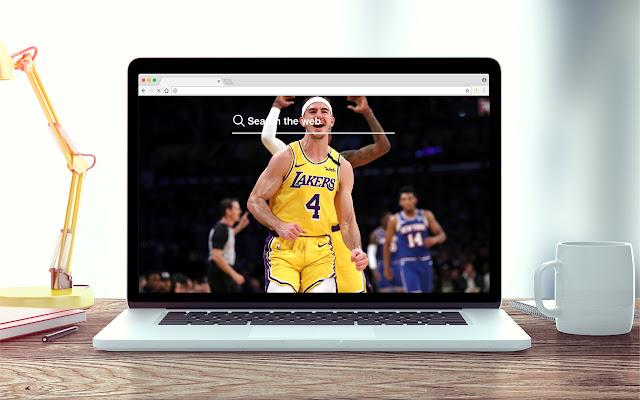 Alex Caruso New Tab NBA Theme
