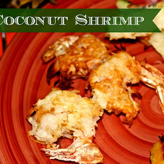 Baked Coconut Shrimp and Zucchini w/Apricot Dipping Sauce.