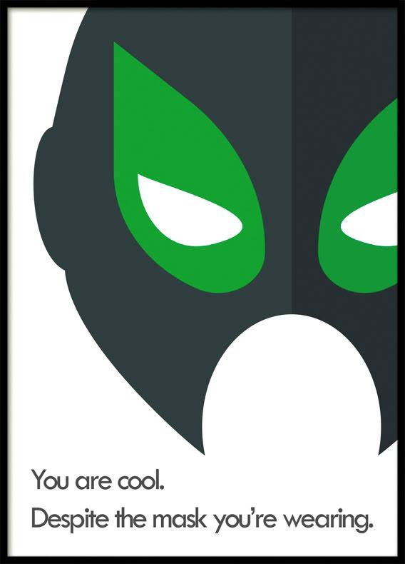 Despite the Mask, Superhero, Poster