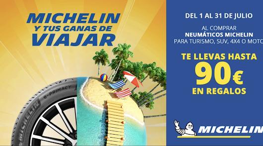 Neumaticos La Juaida y Michelín te dan hasta 90 € en regalos