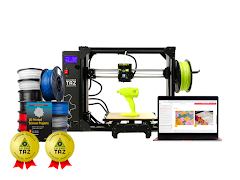 LulzBot TAZ Workhorse 3D Printer Educational Bundle with 2 Year Extended Warranty