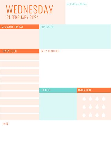 Pastel Daily To Do - Planner template