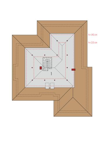 Kornelia IV G2 - Rzut poddasza do adaptacji
