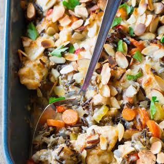 Cheesy Chicken Wild Rice Casserole.