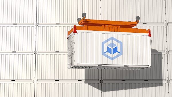 Containers with a Kubernetes Engine icon