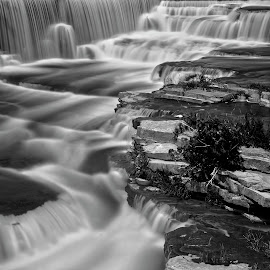 by Joseph Balson - Landscapes Waterscapes ( nature, waterfall, style, black and white, long exposure, river, water, landscape,  )