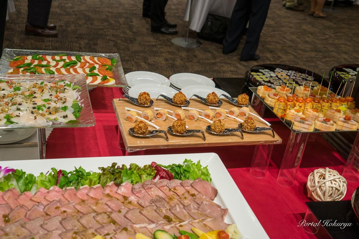 ディスカバー農山漁村(村)の宝サミット交流会の素晴らしい料理の数々