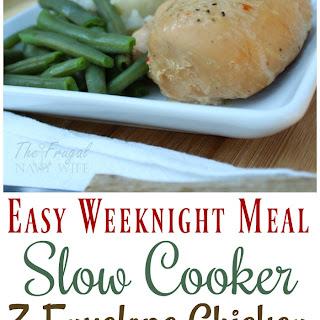 Super Easy Weeknight Meal – 3 Envelope Slow Cooker Chicken.