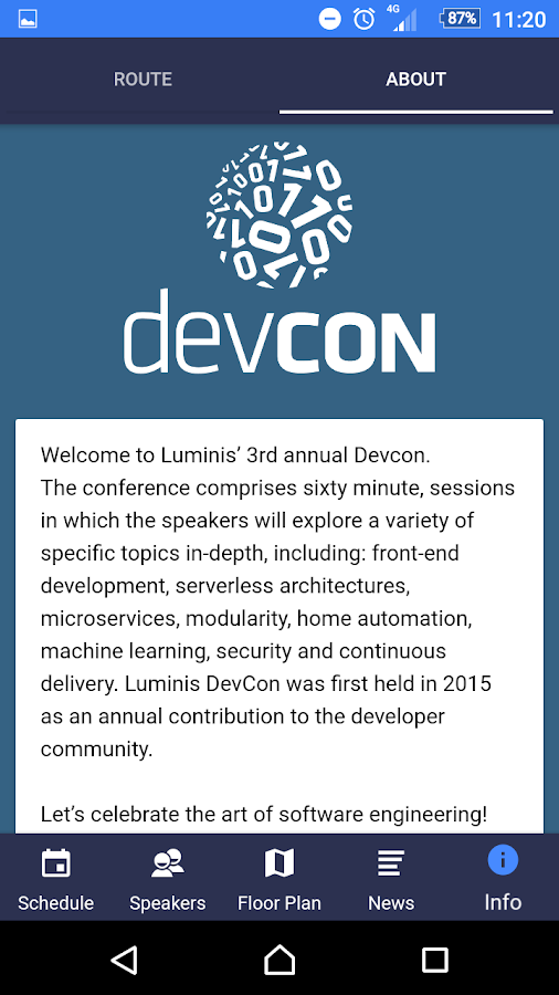 Luminis DevCon- screenshot
