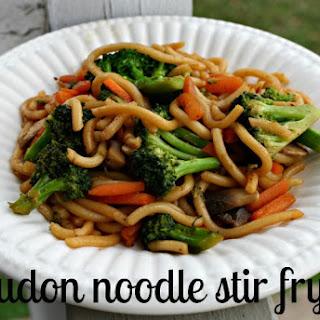 Simple Udon Noodle Stir Fry.