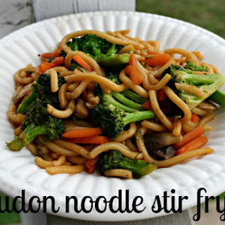 Simple Udon Noodle Stir Fry.