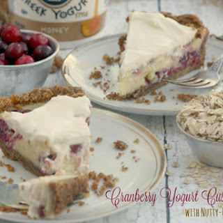 Cranberry Yogurt Custard Pie with Nutty-Oat Crust.