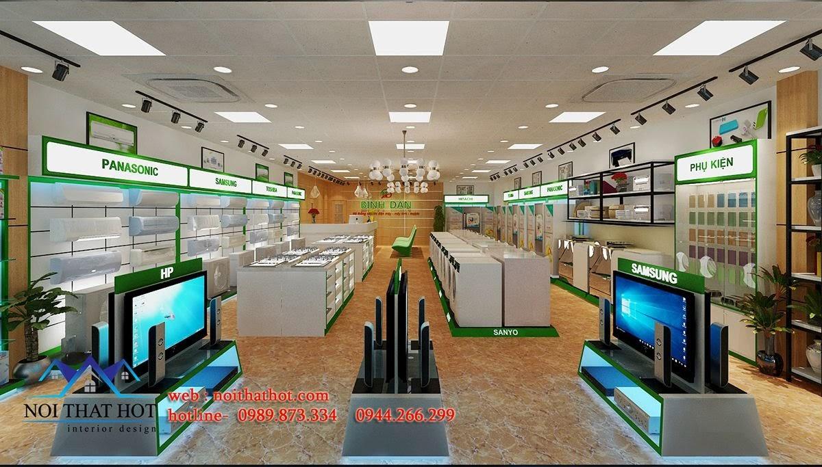 thiết kế siêu thị điện máy tại Mai Châu