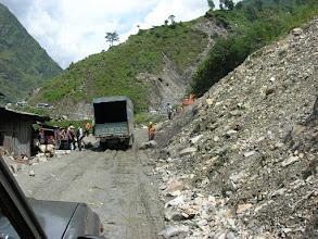 Photo: Landslide south of Zangmu