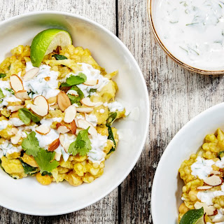 One-Pot Curried Cauliflower with Couscous and Chickpeas.